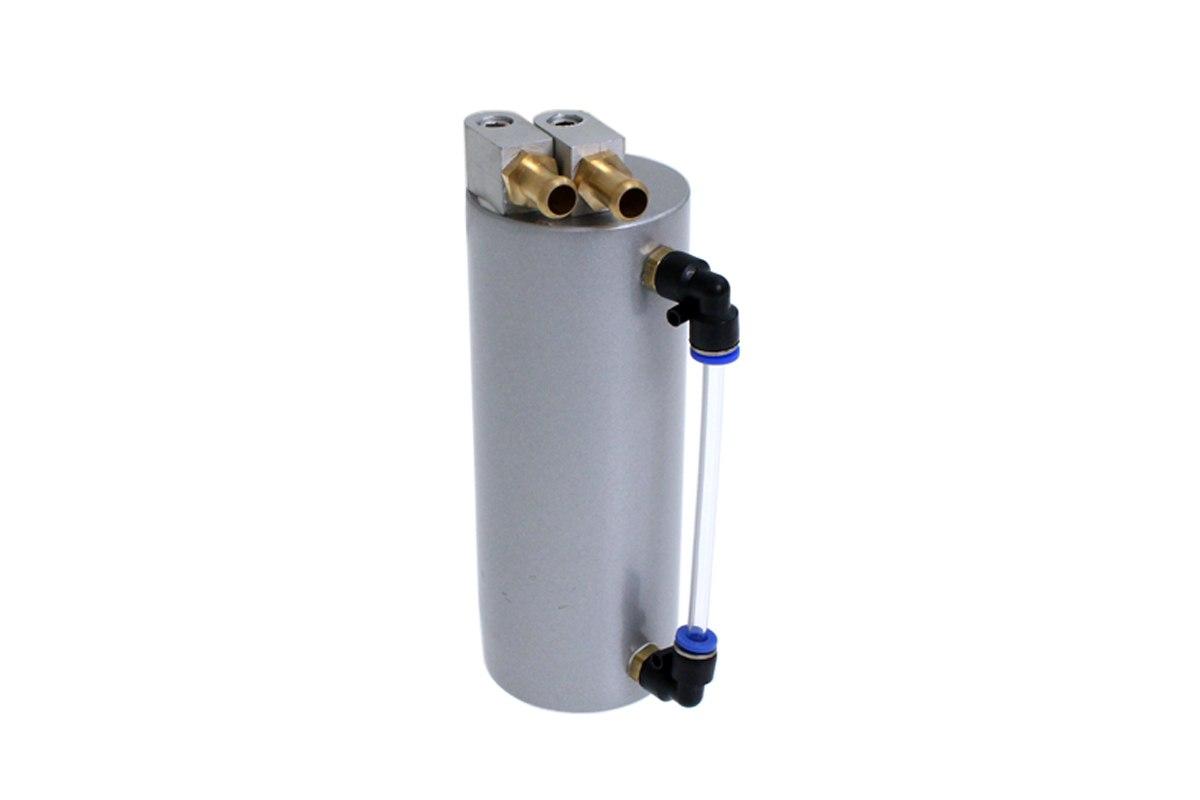 Oil catch tank 0.5L 9mm TurboWorks Silver - GRUBYGARAGE - Sklep Tuningowy